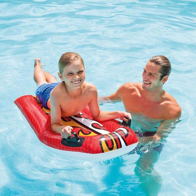 INTEX浮排浮床水上漂流冲浪躺椅充气坐骑成人游泳圈水上装备用床