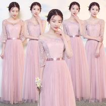 2018春季伴娘服长款毕业主持表演小礼服闺蜜姐妹裙显瘦伴娘礼服