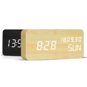 昕昕创意闹钟学生电子时钟床头钟多功能简约现代夜光LED静音钟表