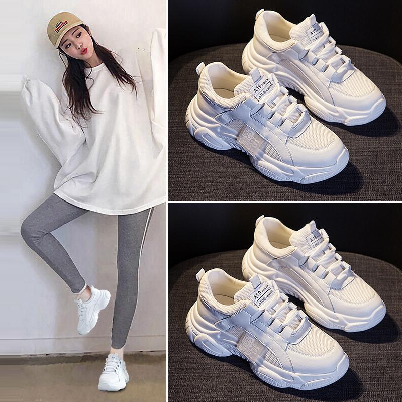老爹鞋子女2019春季新款单鞋网红运动鞋小白春款百搭春秋女鞋潮鞋图片