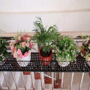 典逸 铁艺多层悬挂花盆架户外 欧式客厅壁挂绿萝多肉阳台栏杆花架