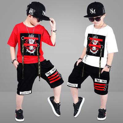 童装头运动套装5款男款休闲卫裤8中大童夏装12七分裤儿童短袖