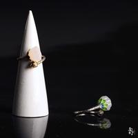 莲蓬和田玉南方南方925纯银饰品宝石女款森系复古风开口尾戒指环