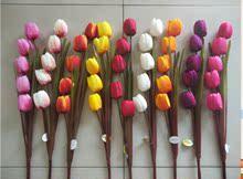 5头单支仿真郁金香 客厅落地花艺摆放花艺 假花布料花娟花塑料花