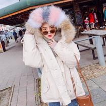 羽绒服女短款2018新款韩版宽松大码加厚时尚学院风学生冬装外套潮