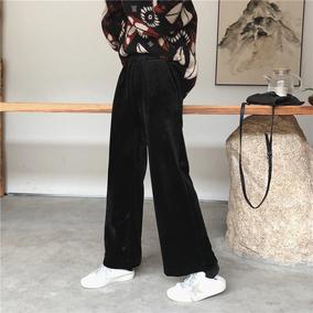 辣么厚还显瘦巨保暖加绒加厚高腰复古丝绒阔腿裤拖地裤
