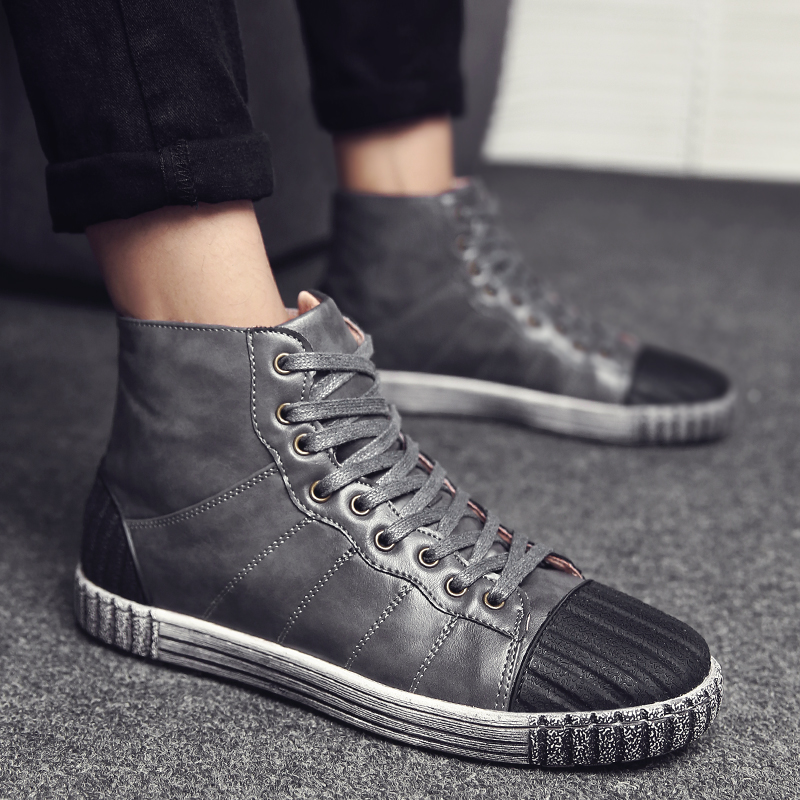 韩国高帮休闲鞋