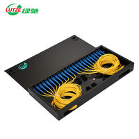 LUTZE green Chi 24 core SC single mode full rack frame fiber optic terminal box cable pigtail welding 24 square