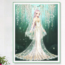 Mona Lisa Cross Embroidery 2019 Line Embroidery New Style Guest Small Cartoon Wedding Garment Girls Newcomers Simple Embroidery Bedroom Painting