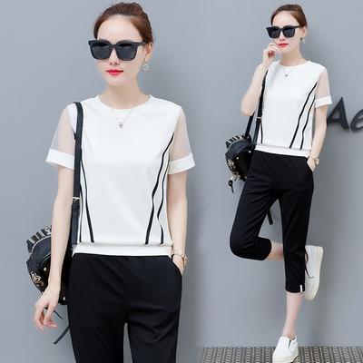 休闲大码运动卫衣服短裤套装女士夏季时尚两件套2018新款韩版宽松