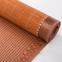 Jenson mat 1.8M bed bamboo mat dormitory student bamboo cool mat summer double-sided folding single double 1.5 1.2