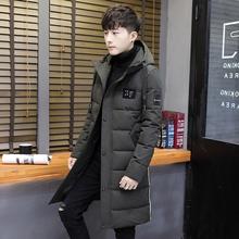 袄子男冬装 过冬衣服高中学生帅气加厚 青少年带戴帽棉衣男中长款