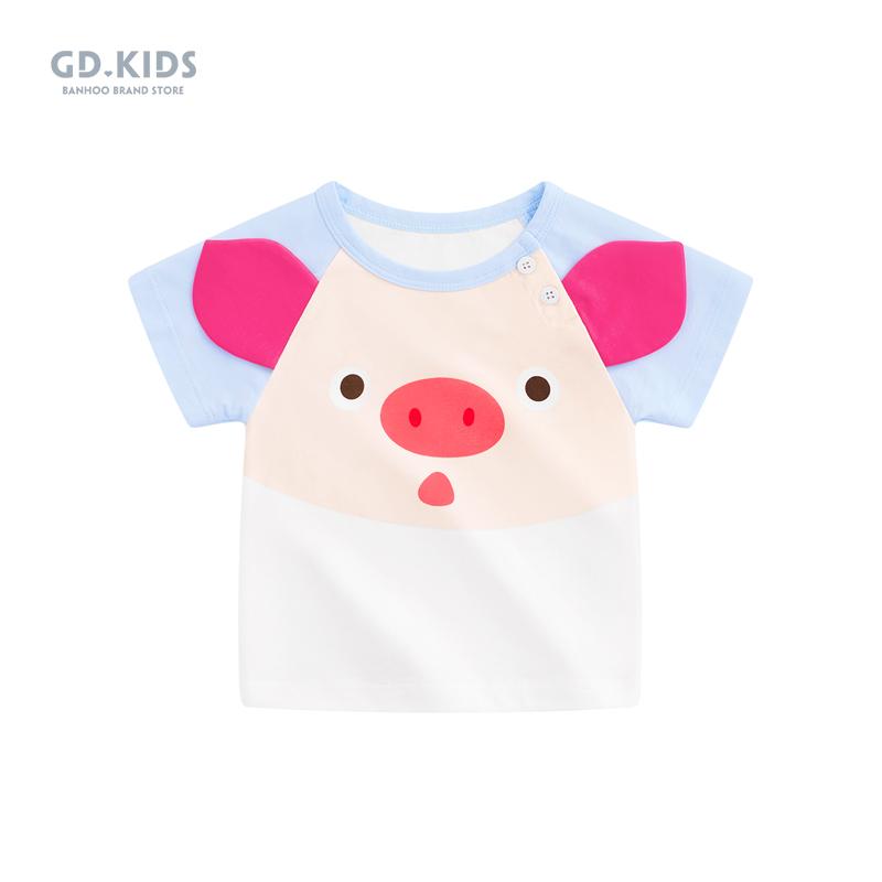 夏婴儿宝宝可爱半袖上衣恤短袖薄款男