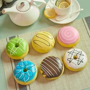 仿真食物蛋糕彩色甜甜圈模型道具玩具店面样板橱窗橱柜装饰摆件