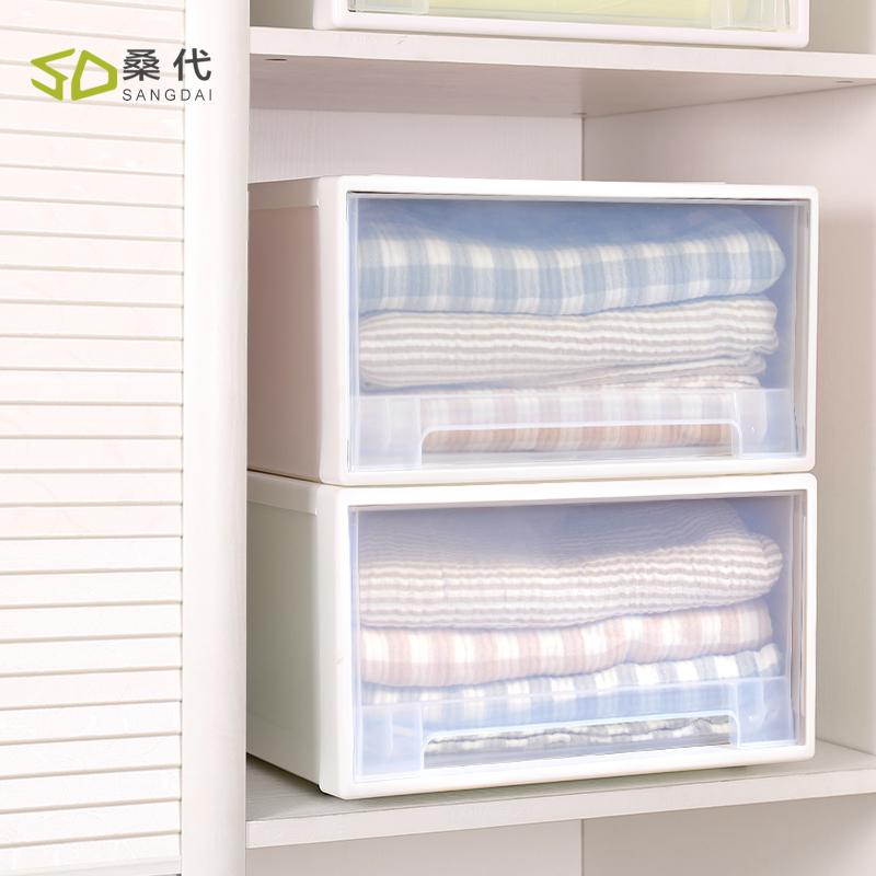 桑代收纳柜抽屉式储物箱塑料衣柜透明加厚衣物整理箱抽屉式收纳箱5元优惠券