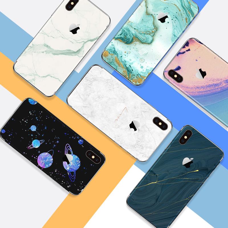 苹果手机背贴iPhoneX个性创意8plus包边后盖膜7P贴膜iPhone8背膜5.5保护膜6sP背面10定制4.7英寸彩膜后背贴纸