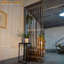 定制 天然咖啡色竹子艺术隔断 自助安装客厅玄关茶楼餐馆屏风背景
