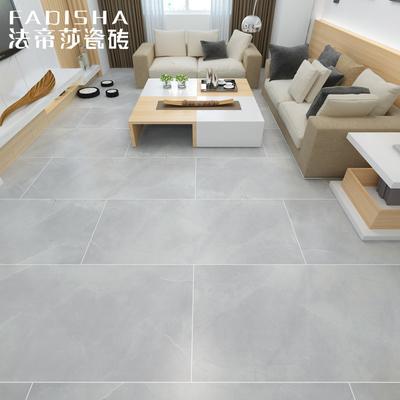 柔光砖仿大理石瓷砖哑光灰色地板砖客厅地砖防滑简约现代600x1200