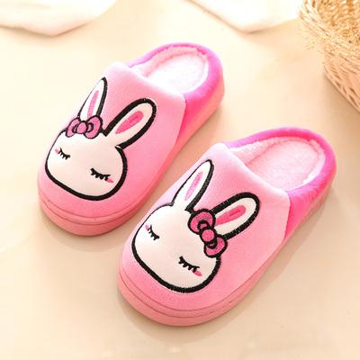 儿童托鞋冬女童男宝宝小孩家用脱鞋室内浴室棉拖鞋防滑软底可爱扦