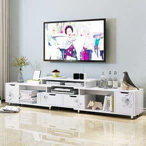 迷你组合电视柜简易客厅地柜茶几家居玻璃北欧宜家柜子可伸缩