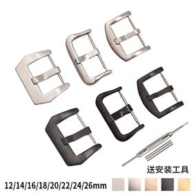 手表扣环表扣配件表带扣18/20/22/24手表配件不锈钢运动表带扣