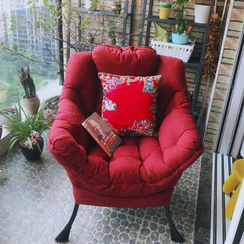 紫叶懒人沙发电脑椅休闲椅卧室小沙发椅宿舍单人沙发阳台懒人椅