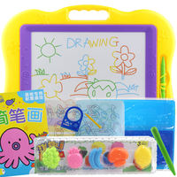 Children's drawing board color graffiti magnetic writing board set baby infant 1-3 years old toys puzzle early education