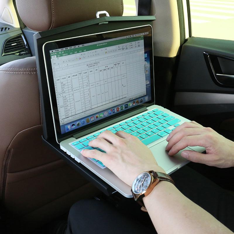 车载笔记本电脑桌多功能汽车小桌板折叠车内椅背后座餐桌ipad支架