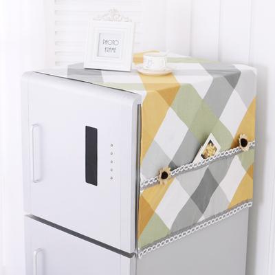 布艺加厚冰箱巾棉布韩式冰箱罩对双开门冰箱盖布单开门冰箱防尘罩
