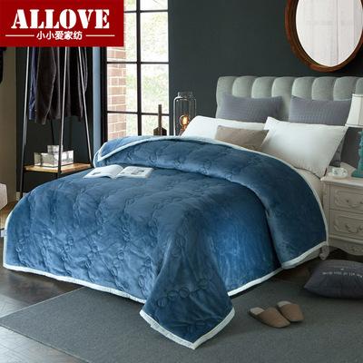 冬季法莱绒加厚保暖毛毯纯色简约素色盖毯被毯子1.5m2m单双人床品