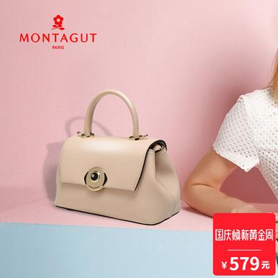 梦特娇女包18年新款手挽单肩斜挎包牛皮时尚锁扣包MK欧美潮流包包