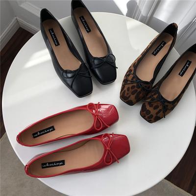 热卖主推款~春季bi备方头牛津软底防滑平底鞋小红鞋经典款低帮鞋