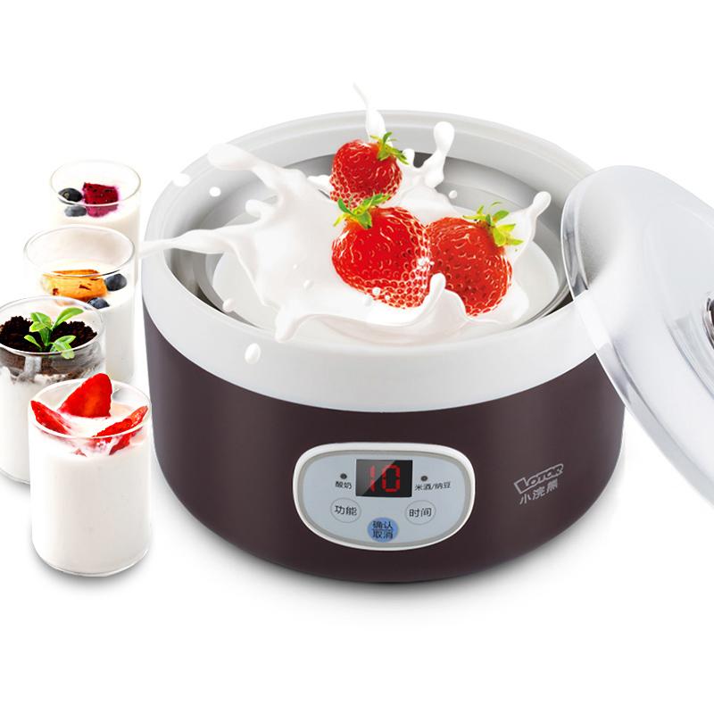 小浣熊TW-303A酸奶机家用全自动多功能纳豆机正品米酒机不锈钢1L