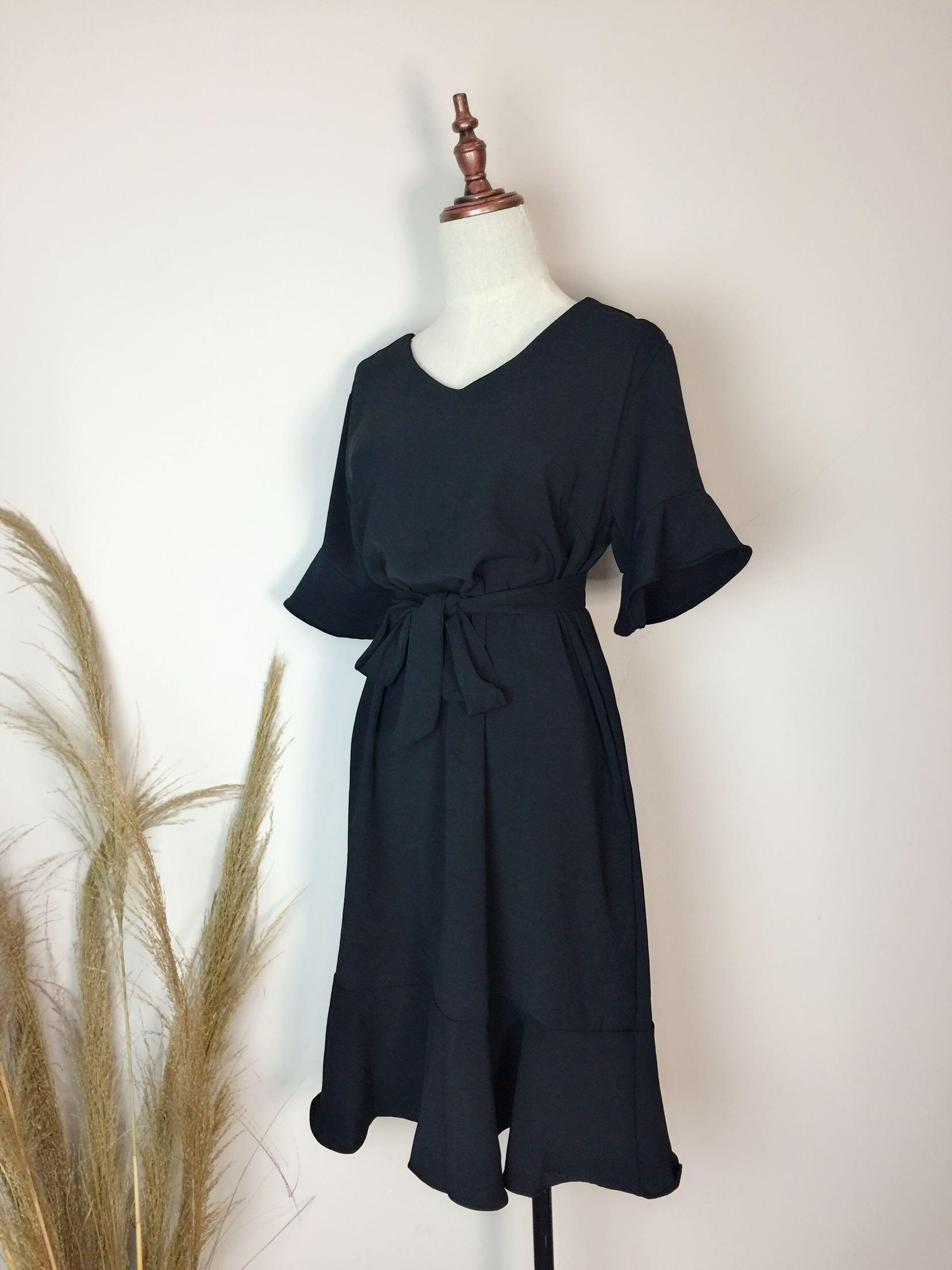 夏连衣裙女装中长款鱼尾裙休闲宽松短袖大码雪纺绵遮肚子显瘦长裙