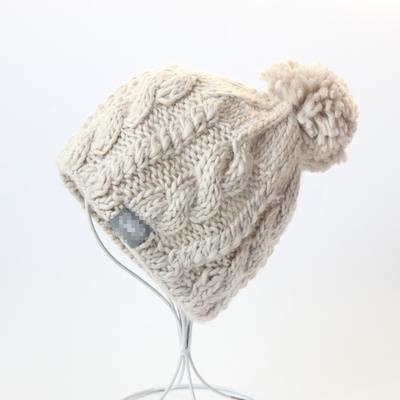 出口秋冬女士羊毛帽子纯手工编织毛线帽时尚保暖帽户外滑雪帽女
