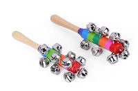 New special offer Orff music teaching aids children percussion rainbow rattle 10 bells bells bracelets bells