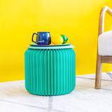 十八纸新品幸福蓝折叠圆凳皮垫创意矮小凳子茶几家用家具ins网红