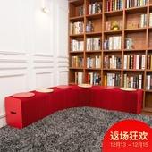 十八纸风琴凳客厅家用餐凳咖啡厅简约现代时尚红色长条凳原创家具