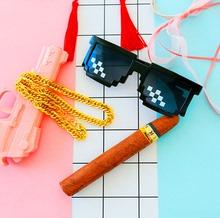 现货 雪茄玩具装 个性 逼神器 仿黄金霸气大金链子项链饰品 漫韵