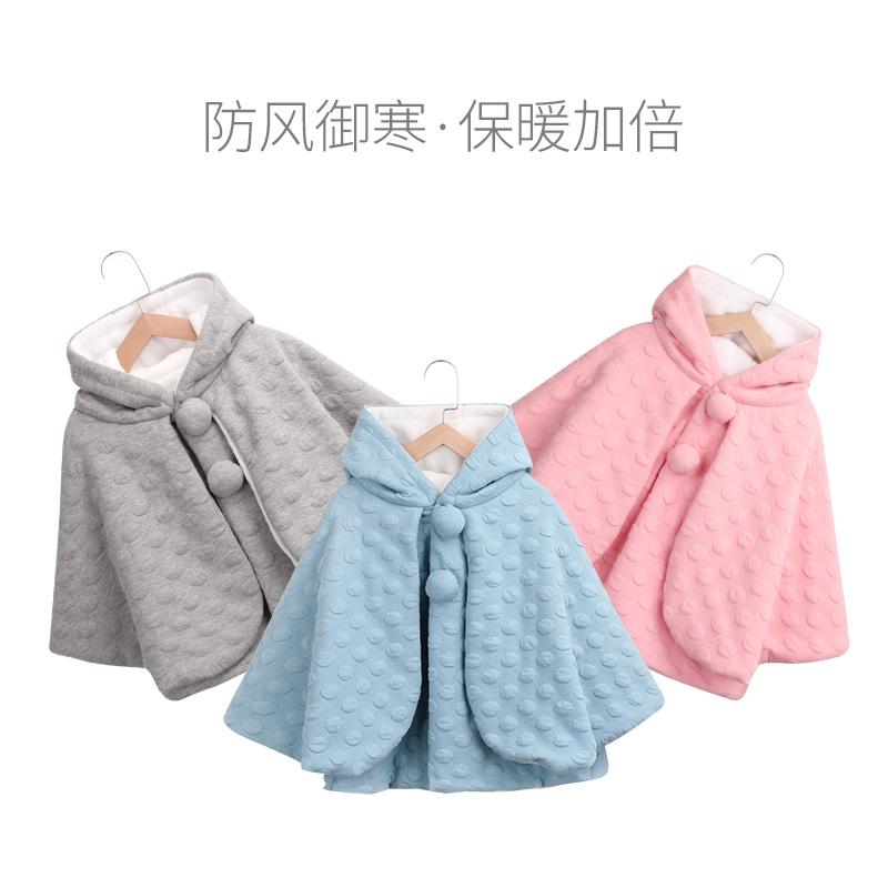 宝宝斗篷披风儿童婴儿春秋季外套披肩男女公主女童春款外出冬款