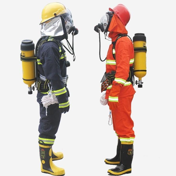 防毒钢瓶正压式空气呼吸器可非防尘单人自救消防面具罩防爆碳纤维