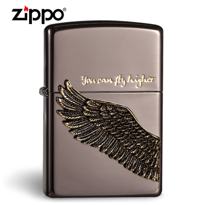原装正品zippo打火机 韩版古银 飞的更高 天使之翼 专柜限量正版