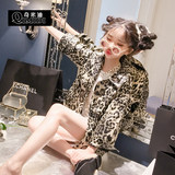 Chimidi Children's Autumn 2019 new children's leopard print jacket casual loose girl jacket