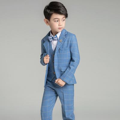儿童西装套装秋款花童礼服男孩韩版童装男童小西服宝宝钢琴演出服