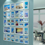 Modern Simple Photo Wall Solid Wood Vertical Pointway Photo Frame Wall Living Room Wall Decoration Enterprise Culture Wall