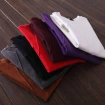 8中长款t恤女春夏菱形纹修身显瘦纯色大码短袖打底衫连衣裙潮