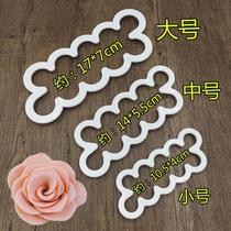 大号玫瑰花瓣纹路夹模翻糖模具硅胶立体印花模压模