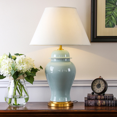 将军罐陶瓷台灯