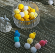 Korea imported 2CM plush ball accessories DIY handmade hairpin bow children hair jewelry material RD