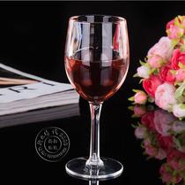 加高加厚亚克力高脚杯红酒杯透明杯塑料葡萄酒杯酒吧杯 包邮现货
